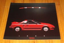 Original 1988 Toyota MR2 and Supercharged Deluxe Sales Brochure