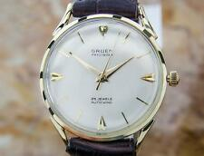 Gruen Rare Solid Gold Swiss Made Mens Automatic Vintage 1960s Dress Watch EB159