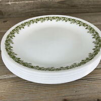 """Vintage Corelle Spring Blossom Crazy Daisy Set of 4 Salad/Lunch Plates 8 1/2"""""""