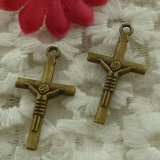 free ship 70 pieces bronze plated cross charms 30x16mm #3207