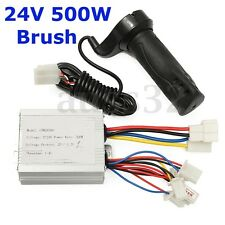 Universal 24V 500w Motor Brush Speed Controller & Electric-Bike Scooter Grip