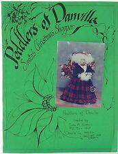 Primitive Folk Art~Peddlers of Danville-Santa's Christmas Shoppers Pattern UNCUT
