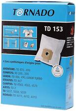 Boite de 4 sacs microfibre - Aspirateur - Original TORNADO TD 153