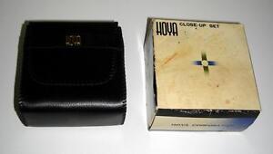 NIB Hoya 55mm close-up set +1.+2 &+4 W/BOX&CASE Made Japan