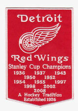 NHL DETROIT RED WINGS STANLEY CUP CHAMPIONS BANNER PATCH