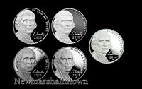 2010 2011 2012 2013 2014 S Jefferson Mint Proof Nickels ~ Set of Five U.S. Coins