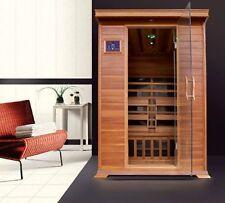 Sauna Infrarossi 120x115 cm per 2 persone in Legno cedro rosso Ionizzatore radio
