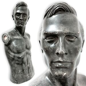 Vintage Male Mannequin Torso Wall Hanging Counter Display Bust Oddity Art Creepy