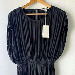 COUNTRY ROAD : NEW! SZ 10,14 pleated mini dress - black S,L [CR LOVE]