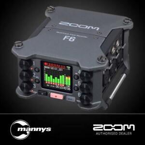 Zoom F6 Multi-Track Field Recorder w/ 32-Bit Float Recording