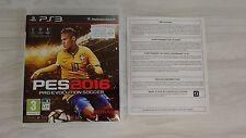 PES 2016 Pro Evolution Soccer Complet Jeu de Foot sur PS3 !!!!