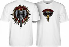 Powell Peralta Mike Vallely Elephant Skateboard Shirt White Xl