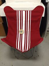 Pottery Barn Teen Red Stripe Butterfly bedroom lounge Dorm Chair frame & Cover