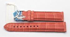 MICHELE CALYPSO ORANGE SEREIN DECO CSX 18mm ALLIGATOR WATCH STRAP MS18AA010087