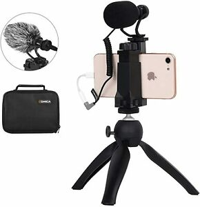 Comica CVM-VM10-K2 Smartphone Microphone Kit with Tripod, Microphone for...