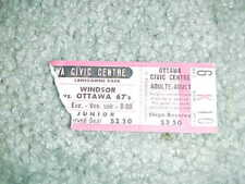 1980s Ottawa 67s v Windsor OHA Hockey TIcket