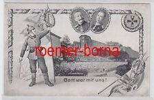 """78629 Patriotika Ak Citadelle Namur """"Gott war mit uns!"""" um 1915"""