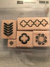 Stampin Up Madison Avenue Set Of 5 Wood Mounted Rubber Stamp Su Scrapbooking