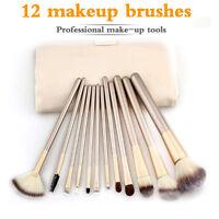 12pcs/Set Makeup Brushes Foundation Eye Kabuki Brush Lip Cosmetics Tool With Bag