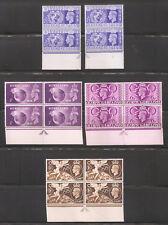 UK 1948,KGVI Olympic Issue,Pairs & Blocks Sc 271-274,VF MNH** (Lot-1)