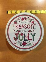 Tis The Season To Be Jolly Christmas Tin Can