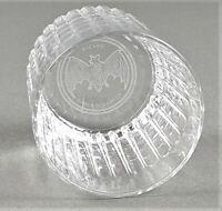 Bacardi Rum großer Tumbler mit gefrästem Logo im Boden Glas Gläser (413)