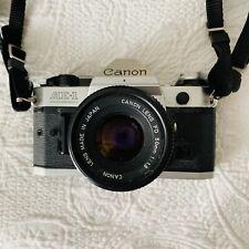 Canon AE-1 Program 35mm Film Manual Camera w/ 50mm F1.8 Lens Vintage Retro