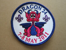 Dragon 24 May 2011 Cloth Patch Badge Boy Scouts Scouting L3K B