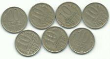 New listing Vintage Lot 7 Russia 10 Kopeks Coins-1962,1970,1971,1972 ,1973,1974,1976-Feb863