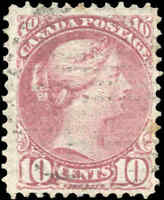 Used Canada F+ Scott #40 10c 1877 Small Queen Issue Stamp