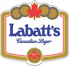 "Labatt's Beer Alcohol Sticker - wall, window, vinyl sticker 5""x 4.8"""
