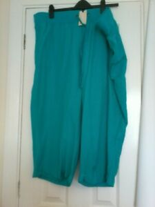 Capsule Size 24 Wide leg cropped trousers Green
