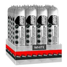 Selsil Premium 600ml White Polyurethane Construction Adhesive Sealant (20-Pack)