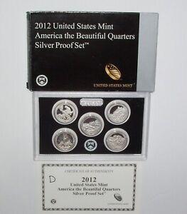 2012-S Silver America the Beautiful National Parks Quarters Proof Set - OGP/COA