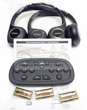 Cadillac Escalade Wireless Headphones Blue Ray DVD Remote KIT New OEM 2014-2016