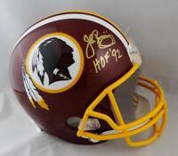 John Riggins Autographed Washington Redskins F/S Helmet w/ HOF- JSA W Auth *Gold