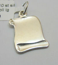 Sterling Silver 925 Charm Pendant - Medium Engravable Scroll - NEW
