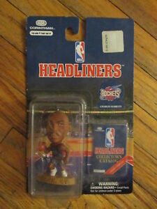 vtg 90s CHARLES BARKLEY PVC PIGURE Houston ROCKETS Basketball Toy Statue NEW NOS