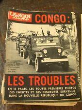 Le Soir Illustré 14/7/1960 - Congo : Les troubles - Vadi - Tour de France - Peyo