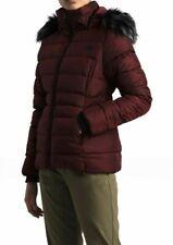 The North Face Gotham II Faux Fur Hooded Jacket Deep Garnet Plus Size 3XL New