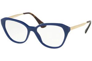 Prada Eyeglasses PR 28SV BIL1O1 52 Blue/Gold Frame52-16-140 Optical Frame