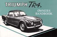 Triumph Tr4 Owner Handbook, Paperback by Brooklands Books Ltd., Brand New, Fr...