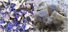 Biodegradable Petal Flower Confetti Blue Ivory Delphinium Petals 50 Bags
