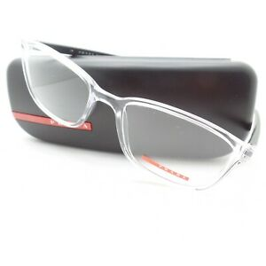 Prada Linea Rossa Sport VPS O4I 2AZ-1O1 55m Transparent Grey New Authentic Frame
