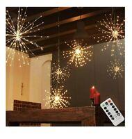 PXB 2 Pack Starburst Sphere Lights200 Led Firework Lights 8 Modes Dimmable Re...