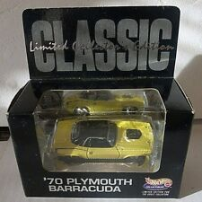 Hot Wheels  - CLASSIC '70 PLYMOUTH BARRACUDA - REAL RIDERS #2317 OF 10,000