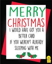 Funny Rude Christmas Card - Boyfriend Girlfriend Sleeping with meXM92