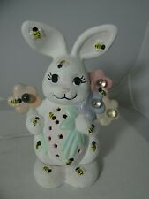 Vintage Bunny Rabbit Bumble Bees Night Light Table Lamp Hand Made