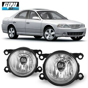 For Lincoln LS 05-06 Bumper Fog Light Lamp Replacement  Clear Lens PAIR