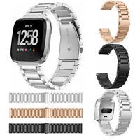 Premium Stainless Steel Metal Bracelet Watch Band Strap For Fitbit Versa